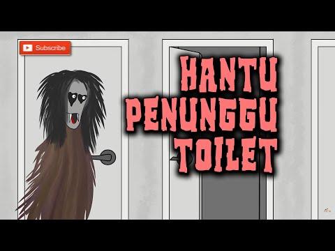 Hantu Toilet Angker Pom Bensin | Animasi Horor Kartun Lucu | Warganet Life