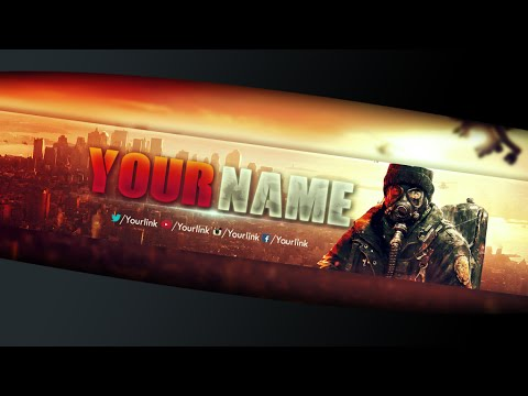New Free Gaming Youtube Banner #5│Template PSD By LastZAK - YouTube