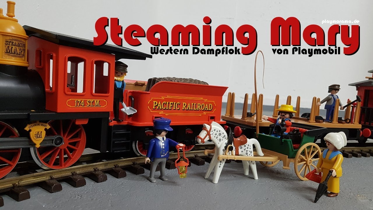 Playmobil Westernlok Steaming Mary Fährt Im Keller Youtube