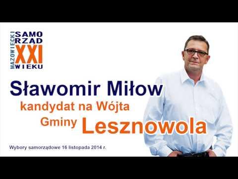Wywiad radiowy ze Sławomirem Miłowem - kandydatem na Wójta Gminy Lesznowola