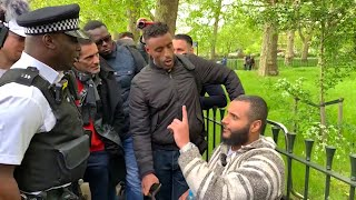 Police called on Mohammed Hijab!? Mohammed Hijab Vs Christians | Speakers Corner | Hyde Park