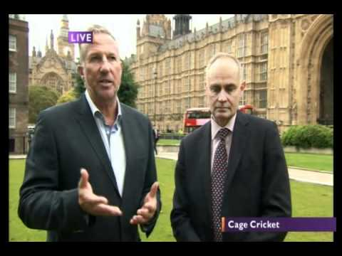 BBC Daily Politics Jo Coburn interview with cage cricket Sir Ian Botham and Crispin Blunt