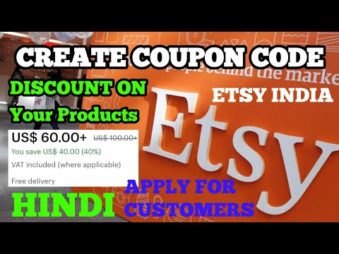 Create Coupon Code For Customer Earn Money From #ETSY#INDIA Online | Discount Coupon #Etsy#Seller