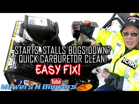 HOW TO FIX A SURGING ROUGH RUNNING STALLS BOGS DOWN UNDER LOAD 2 STAGE TECUMSEH ENGINE SNOW BLOWER