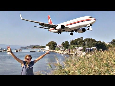 Meridiana 737-800 Low Short Landing & Takeoff @ Skiathos (Je