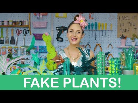 How to make FAKE PLANTS !!