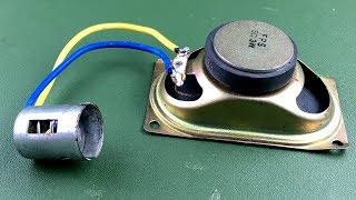 Electric Free Energy Generator With Speaker Magnet Using DC Motor New Technology Idea 2018