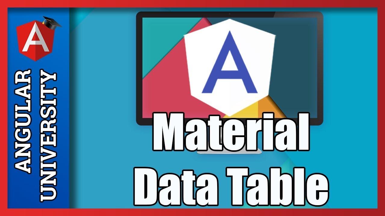 💥 Angular Material Data Table Introduction - Column Definition