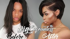 """How to Cut a 12"""" full lace Wig Into Edgy short cut ( Very Beginner Friendly ) 2018"""
