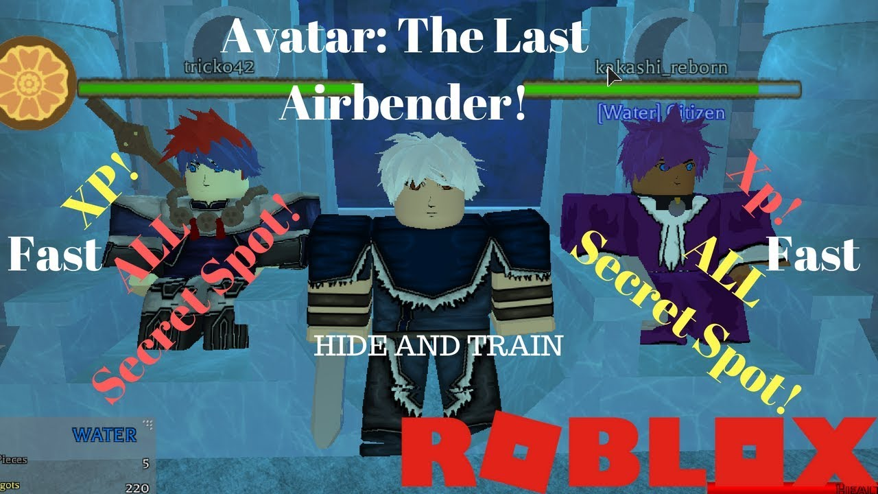 Avatar Legend Of Korra Roblox Game All Secret Spots Avatar The Last Airbender Roblox Hide Get Xp Fast Youtube