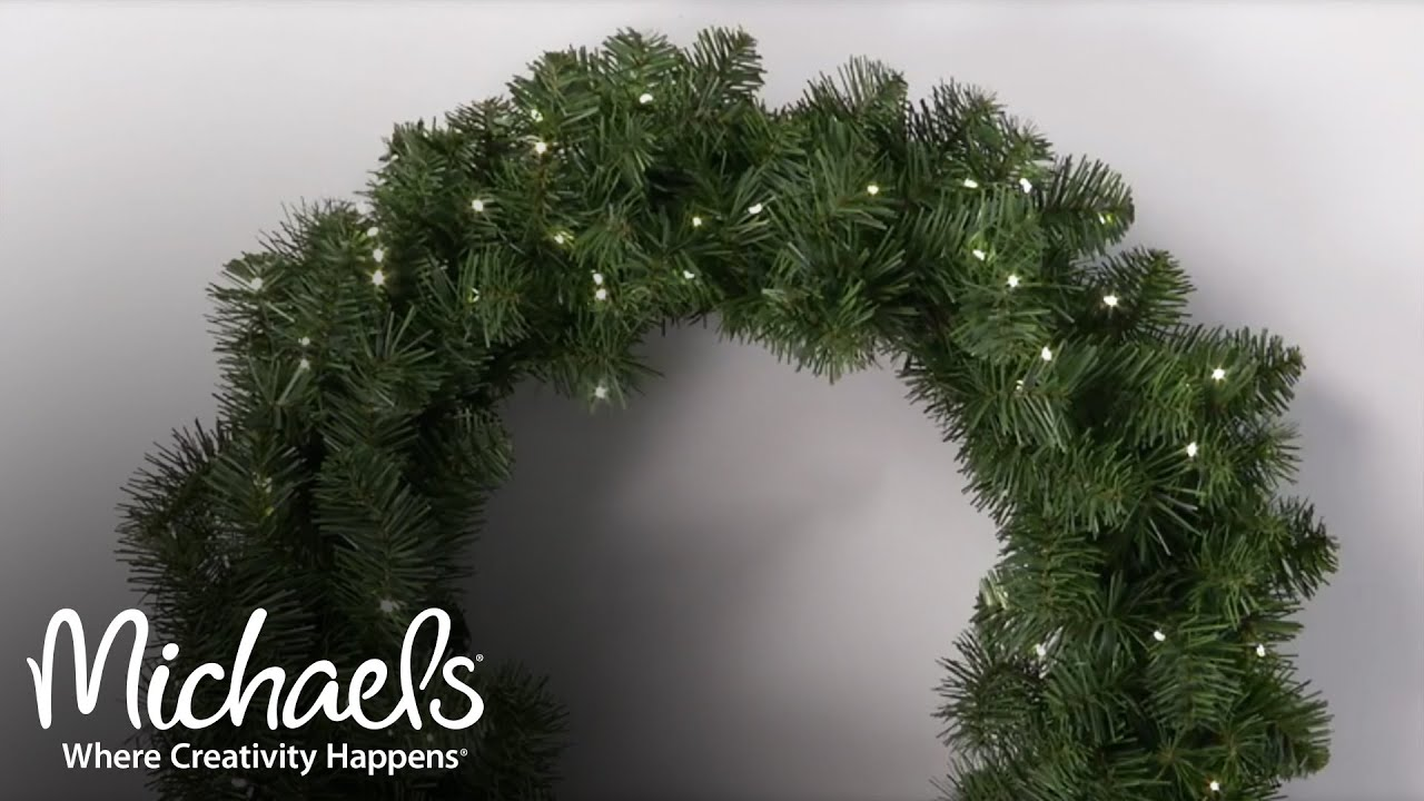 add lights to your wreath make it merry michaels - Michaels Outdoor Christmas Decorations
