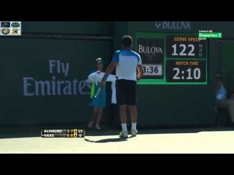 Tommy Haas vs Nicolas Almagro - Indian Wells 2013