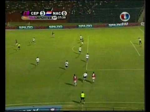 Tercer gol de Cerro Porteño a Nacional, Torneo apertura 17-02-2010, Golazo de  Ceballos