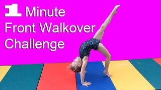 One Minute Gymnastics Challenge (Front Walkover)