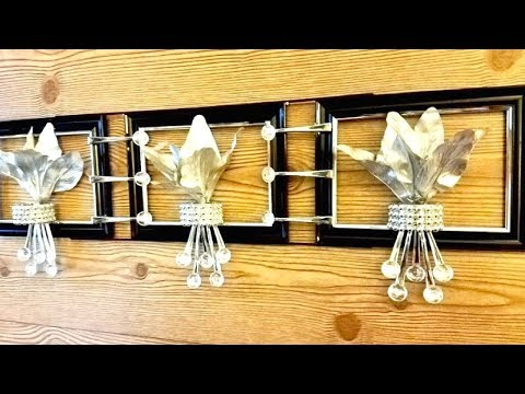 Diy Silver Metallic Wall Decor Using Dollar Store Items Quick and Easy Wall Decorating Idea