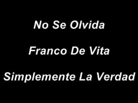 No Se Olvida - Franco de Vita - Letra