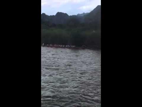 Boat race festival Vang Vieng, Laos