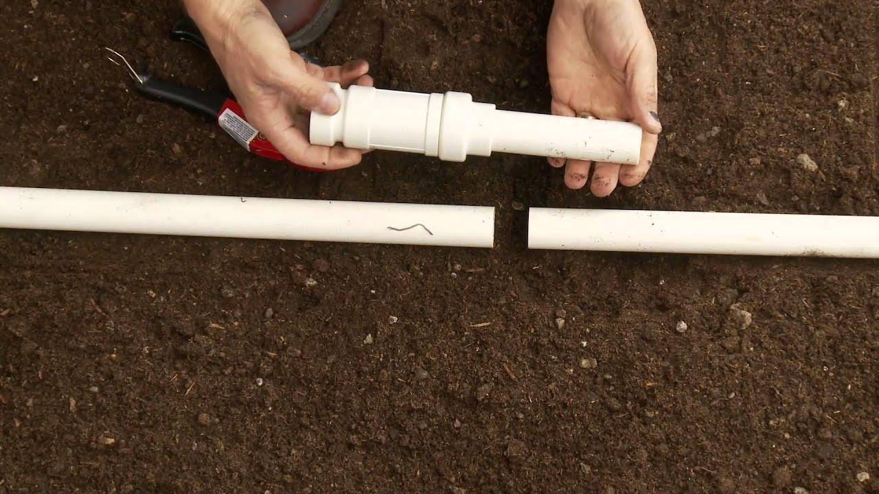 How To Repair Pvc Sprinkler Pipe Glueless Coupling Slide Ings Lock You