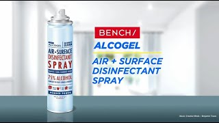 Introducing the New BENCH/ Alcogel Air + Surface Disinfectant Spray