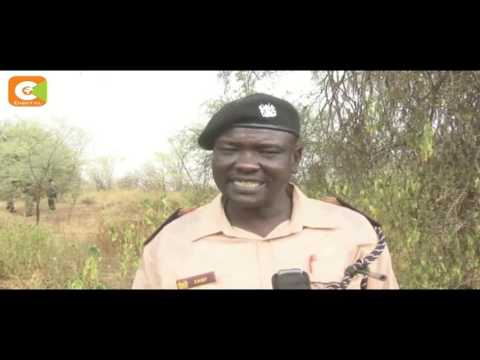 Police officers forced to trek long distances in search of water in Loyaa, Turkana