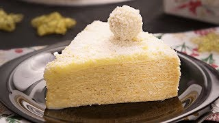 ¿Tarta Sin Horno y sin Refrigeración? Así es la Tarta Raffaello con Obleas, Coco y Leche Condensada
