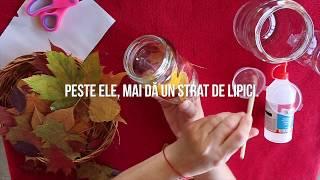 DIY KIDmagia.ro - Cum să faci felinare din frunze de toamnă