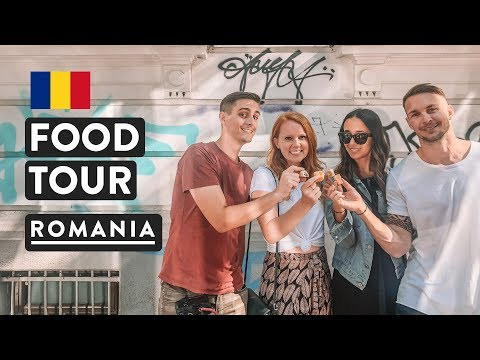 IS ROMANIAN FOOD GOOD?! Bucharest Step By Step Food Tour Vlog 2018