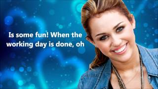 Miley Cyrus Girls Just Wanna Have Fun [Lyrics On Screen]
