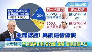 20190702中天新聞 直擊藍民調會 「不排除」極端值 增添作票疑慮