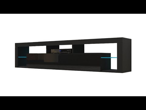 "Milano 200 Wall Mounted Floating TV Stand Assembly (Wayfair: Böttcher TV Stand for TVs up to 88"")"