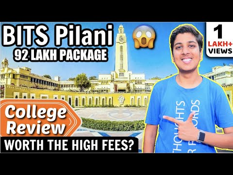 BITS Pilani | 92 LAKHS PACKAGE🔥| Hostel | College Review [2020]