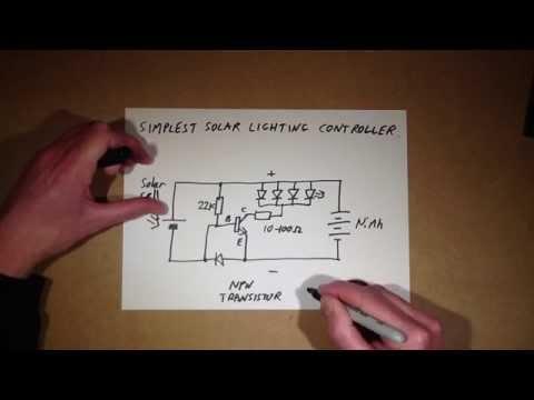 Simplest solar decorative lighting controller.