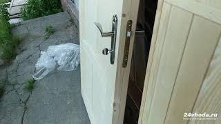 """Дверь """"ЩИТОВАЯ"""" деревянная утепленная, из сосны. Сравнение дверей """"ЗИМА"""" и """"ЩИТОВАЯ"""". Отзыв клиента"""