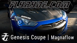 SEMA 2014 Genesis Coupe at Magnaflow Custom Headlights and Tail Lights by FlyRyde