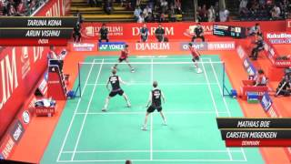 Mathias Boe/Carsten Mogensen (DEN) VS Tarun Kona/Arun Vishu (IND) Djarum Indonesia Open 2012