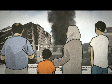 A BEAUTIFUL ANIMATION OF A HARROWING STORY - BBC NEWS
