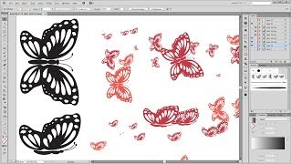 How to create your own butterfly brushes in - Adobe Illustrator Tutorial - 02