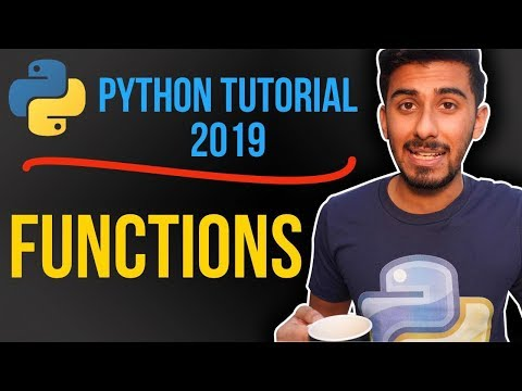 2 -  how do functions work in python? (Python tutorial for beginners 2019) thumbnail