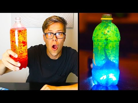 TRYING DIY GLOWING LAVA LAMP EXPERIMENT -   DAY 108