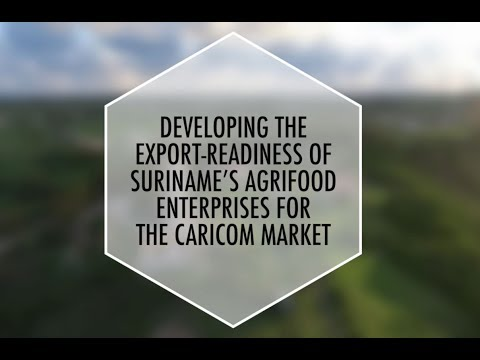 Developing the Export-Readiness of Suriname's Agrifood Enterprises for the CARICOM Market
