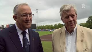 Rotterdamse burgemeesters genieten samen bij WPT in Rotterdam: 'Nooit gelazer met honkbal'