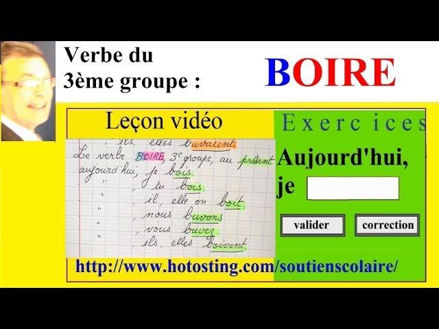 Conjugaison Verbe Du 3eme Groupe Boire Imparfait Present Futur Youtube