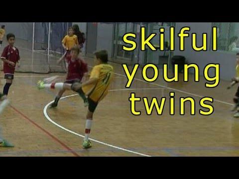 Soccer Skills   Futsal   Skilful Young Twins pds