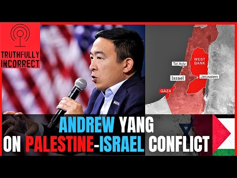 Andrew Yang Talks Palestinian-Israeli Occupation \u0026 How To Resolve The Conflict Moving #Forward