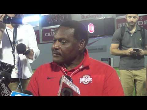 Ohio State DL coach Larry Johnson 09/05/16 - ELEVENWARRIORS.COM