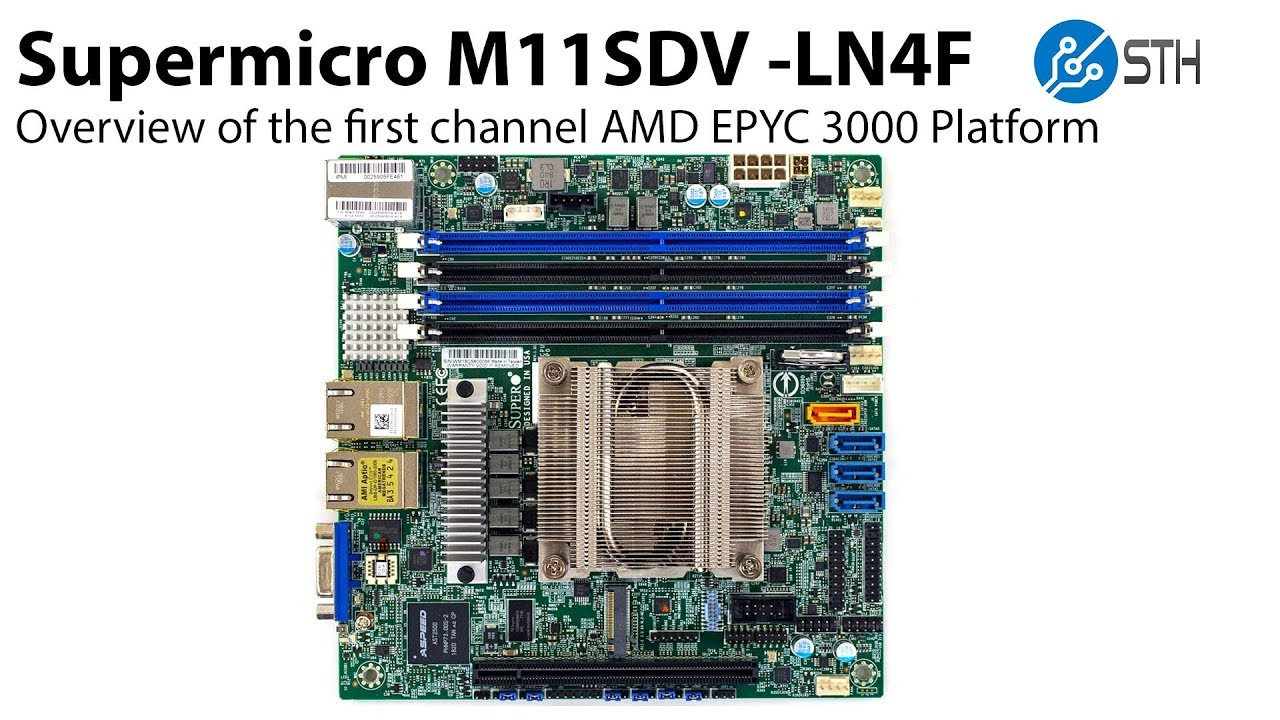 Supermicro M11sdv Amd Epyc 3000 Exclusive First Overview Youtube