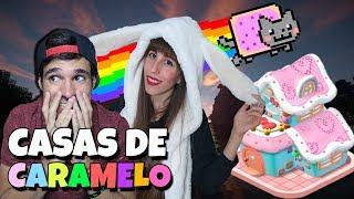 VIVIMOS EN CASAS DE CARAMELO | Minecraft Lucky Blocks con Mel