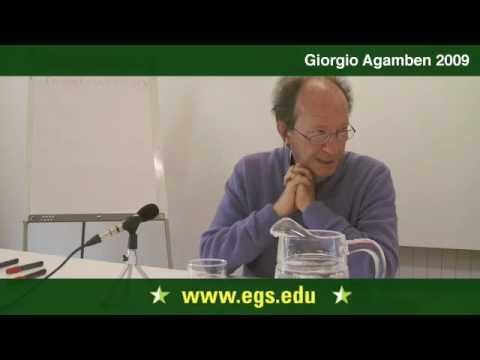 Giorgio Agamben. The Problem of Subjectivity. 2009 1/7