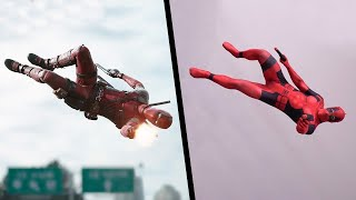 Stunts From Deadpool In Real Life (Parkour, Marvel)
