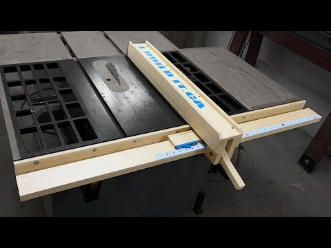 Make a Wooden Fence for Your Table Saw and Save a Few Bucks